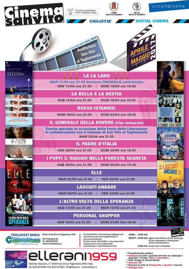 Cinema San Vito - Aprile e Maggio 2017