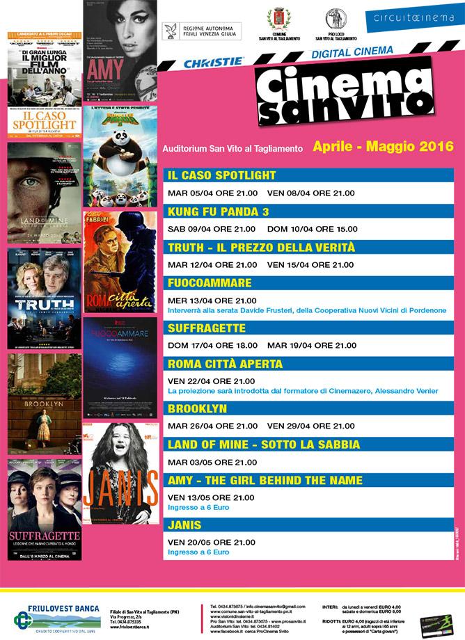Cinema San Vito - Aprile e Maggio