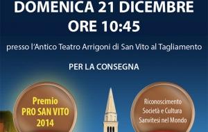 Premio Pro San Vito 2014
