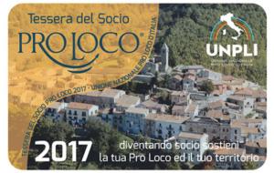 Socio Pro Loco – Tesseramento 2017
