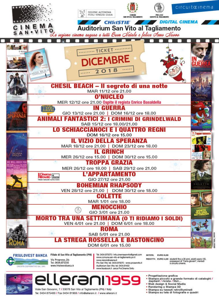 Cinema San Vito - Dicembre 2018