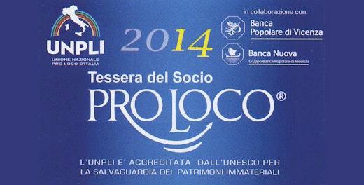 Tessera Pro Loco 2014