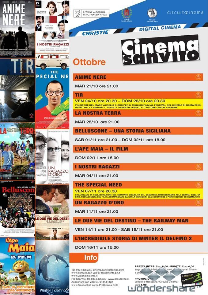 Cinema ottobre - novembre 2014