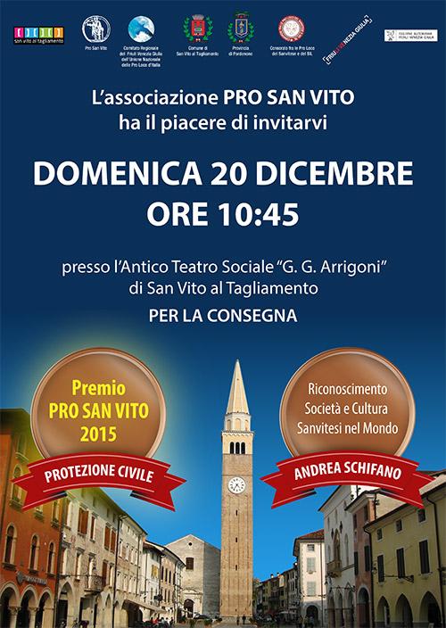 Locandina Premio Pro San Vito