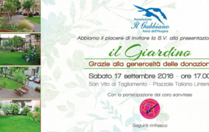 """Inaugurazione """"Il Giardino"""" – Ass.ne IL GABBIANO – amici dell'hospice"""