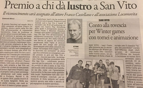 Premio Pro San Vito e Sanvitesi nel Mondo 2016