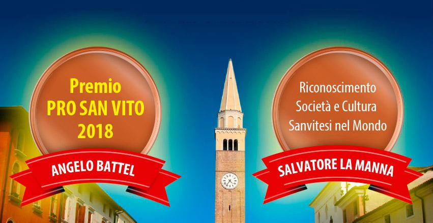Premio Pro Sanvito 2018
