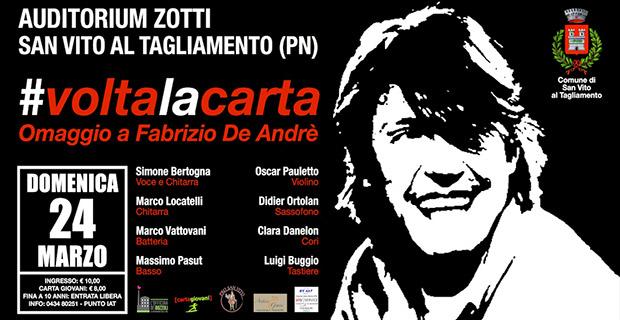 Spettacolo Voltalacarta in ore di Fabrizio De Andrè