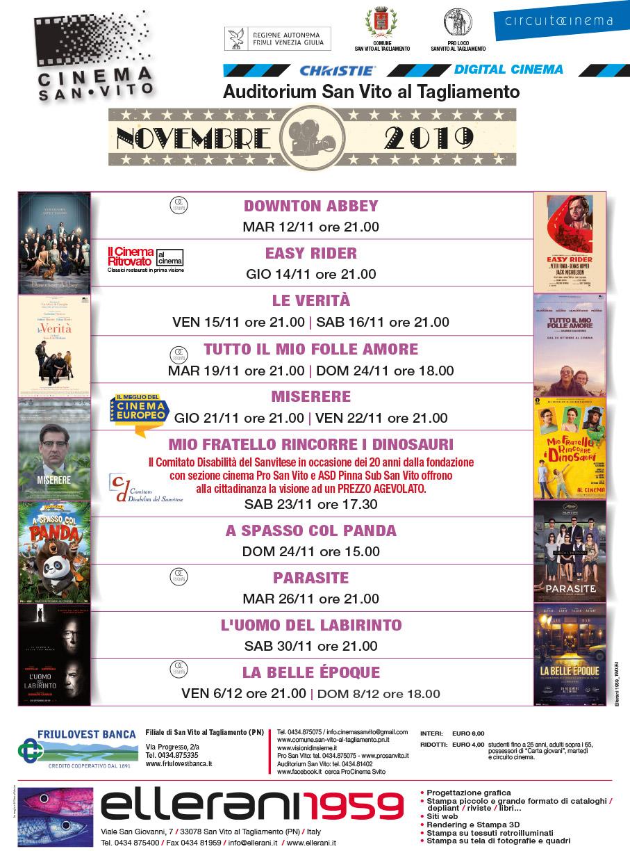 Cinema San Vito - Novembre 2019