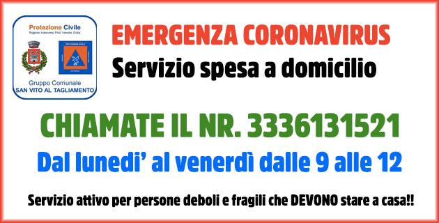 Emergenza coronavirus San Vito al Tagliamento